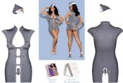 Obsessive Lingerie [ UK 6 - 10 ] 'Come Fly With Me' Stewardess Fancy Dress Ou...